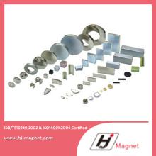 Alta potência forte neodímio N35-52 disco/anel/bloco ímã com ISO9001 Ts16949