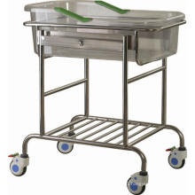 B-36 Hospital Baby Bed Stainless Steel Tiltable Infant Bed