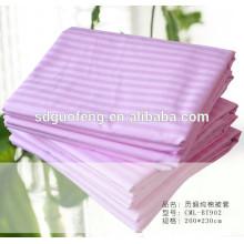 100% хлопок сатин полосы ткани для постельного белья отбеливатель ткани