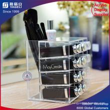 Écran cosmétique Support acrylique pour brosse à maquillage Lispticks