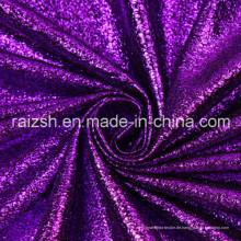 Polyester Plain Bronzing Wildleder Mode Leopard Folie Stoff