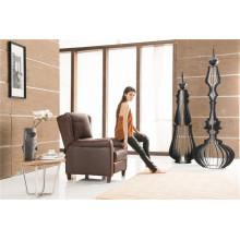 Cadeira de braço traseiro de cor marrom