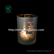 Color Double Wall Glass Candle Cup by SGS (DIA8*10.5)