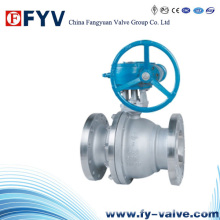 API Worm Gear Flanged Floating Ball Valve
