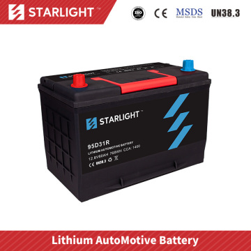 Batterie de voiture au lithium-ion 12V 95D31R (type standard)