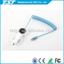 Para el cargador del coche Iphone5 con el cable para el teléfono