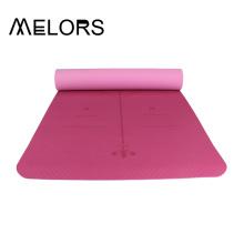 Estera de yoga personalizada al por mayor de los tonos dobles