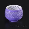 Popular Shape with Purple Glazed Color Decorative Ceramic Candle Tealight Stand