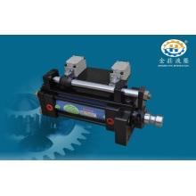 Single rod hydraulic cylinder for transmission machine