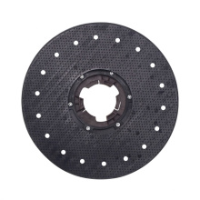 """AF09206 black colour 15"""" 175 pad driver customize rotary floor polisher scrubber cleaning brush with 175 clutch plate for sale"""