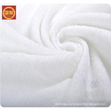 Toalla de baño 100% de la microfibra del poliéster del blanco de la fábrica de China, toalla del hotel, toalla de la cara a granel