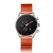 fashion japanese movement genuine leather quartz wrist watch