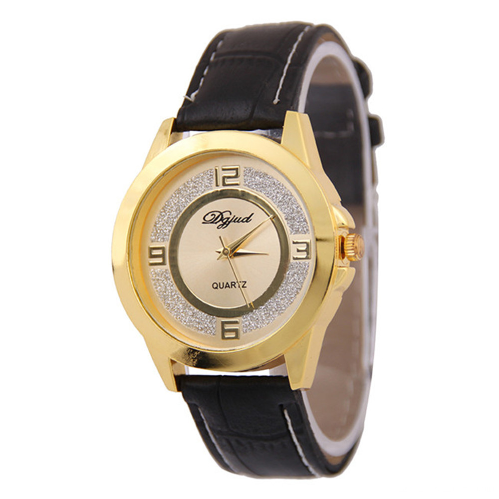 Glitter Printing Quartz Watch for Women