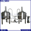 Two vessels brewery system heated by gas / steam / electric