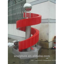 stainless steel rain curtain fountain sculpture/outdoor statue