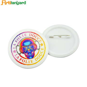 Insignias de botones personalizadas con pin simple