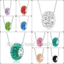 Cristal clair pavé grand trou Spacer Perles style européen European Crystal Charm perles