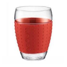 250ml Borosilicate Single Wall Glass Tea Cup with Silicone Band