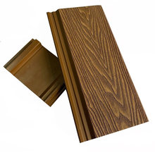 Bammax Factory Sale Anti-UV Wall Cladding Board Wood Grain Wall Panel Wood Plastic Composite Outdoor Garden WPC Wall Panels