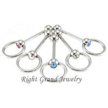 Approvisionnement d'usine de bijoux Meilleure vente langue Piercing Ball Barbell