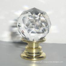 Children Bedroom Furniture Decoration 20mm Luxury Crystal Handles in Brass