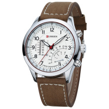 Curren Watch Leather Quartz Casual Montres Hommes