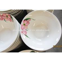 Tazón de la sopa de cerámica de uso diario del hogar con la impresión de la flor