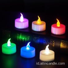 Baterai Powered Flickering Flameless LED Tealight Candle