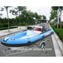 RIB470 inflatable boat with rigid floor RIB470 china boat with ce