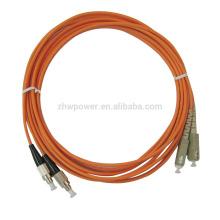 Made in china FC-SC multimodo Duplex 50 125 cabo óptico de fibra, fibra óptica patch cabos com o melhor preço da fábrica de Shenzhen
