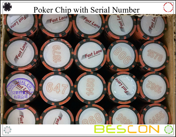 Poker Chip with Serial Number-3