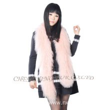Women Fashion Mongolian Lamb Fur Crochet Scarf