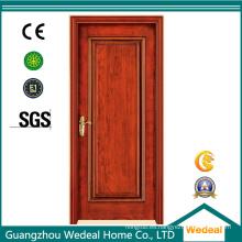 Puerta de madera sólida del interior del solo panel MDF del panel para las casas