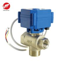 Soupape de commande de flux de poudre électrique motorisée à 3 voies automatique