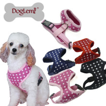 Coleira de manipulador de cachorro de estrelas macia confortável Pet malha 2018 Novo Design elegante colete de cachorro Harness