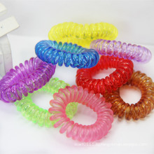 Эластичный спиральный Телефон провода четкие красочные Водонепроницаемый Пластиковые ободки (JE1590)
