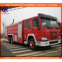 Sinotruk HOWO 6X4 266HP Water Foam Fire Sprinkler Truck Fire Fighting Truck