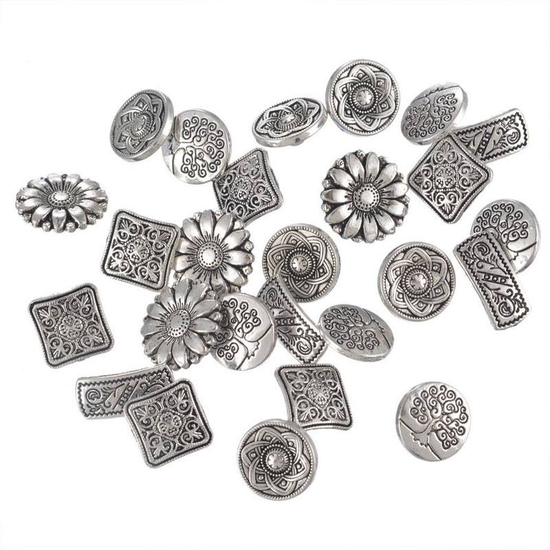 Flower Metal Buttons