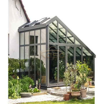 Prefabrikkerte tre Sunroom Glass House