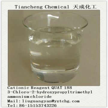 QUAT 188 REACTIF CATIONIQUE 69% ACTIF (CHLORURE 3-CHLORO-2-HYDROXYPROPY L TRIMETHYLAMMONIUM)