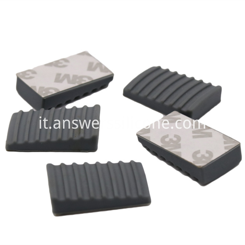 Silicone rubber wear-resistant foot pad