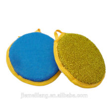 Кухонная круглая губчатая подушка и кухонная губка-мочалка и чистящая губка