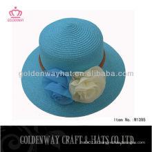 2013 Chapeau de fille avec décoration de fleurs