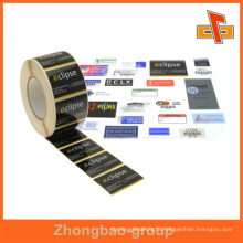 Guangzhou manufacturer wholesale printing and packaging material custom sticky nail polish label with your design