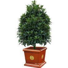 Garden Planter Wooden Round Flower Pot