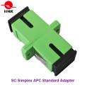 Sc Simplex Singlemode APC Standard Plastic Fiber Optic Adapter