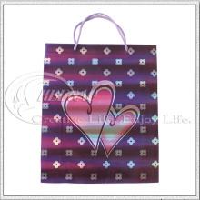 Bolsa de papel con corazón (KG-PB029)