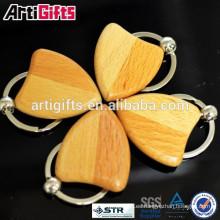 Llavero de madera de encargo barato promocional