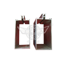 Oxidation Silver Aluminum Stamping Parts Square Pipe with Aluminum Profiles
