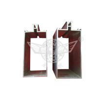 Окисление Серебряный алюминий Штамповка частей Квадратная труба с алюминиевыми профилями